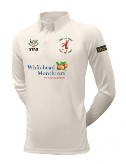 Linton Park Cricket Club embroidered logo Long sleeve playing shirt