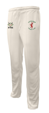 Linton Park Cricket Club embroidered logo Playing Trousers