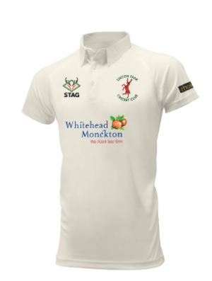 Linton Park Cricket Club embroidered logo Short Sleeve Playing Shirt