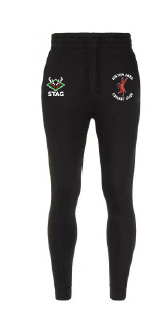 Linton Park Cricket Club Embroidered Logo Skinny tracksuit bottoms